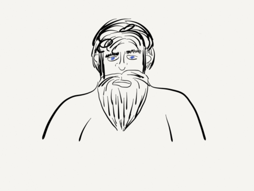 Day 5: Old man with a beard