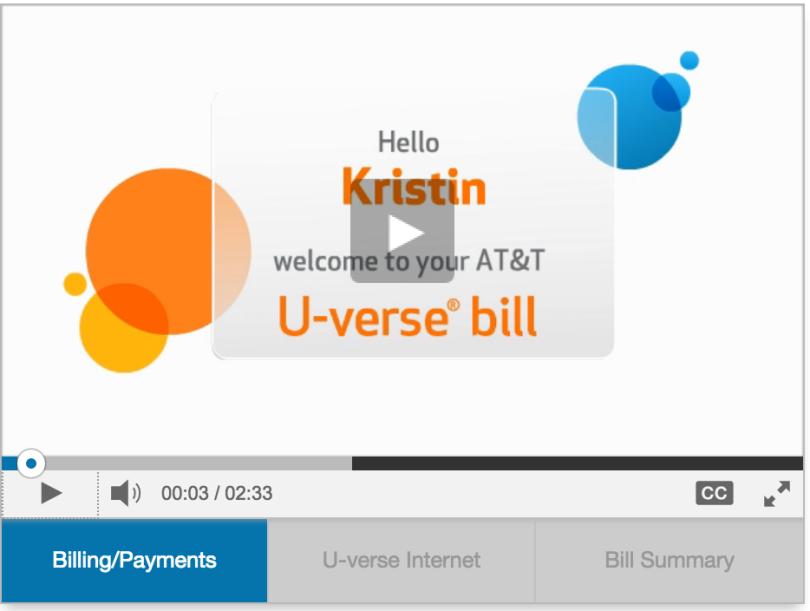 ATT video for understanding my bill