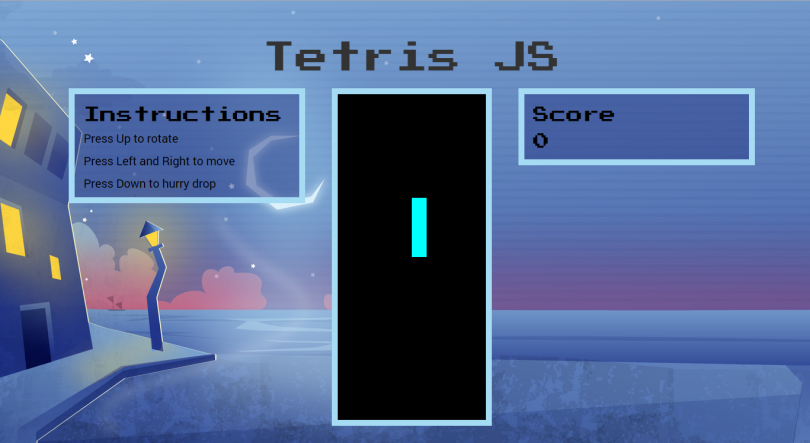 newer version of tetris UI
