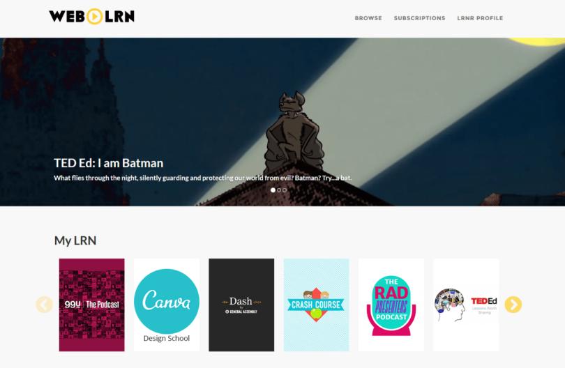 WebLRN Screenshot