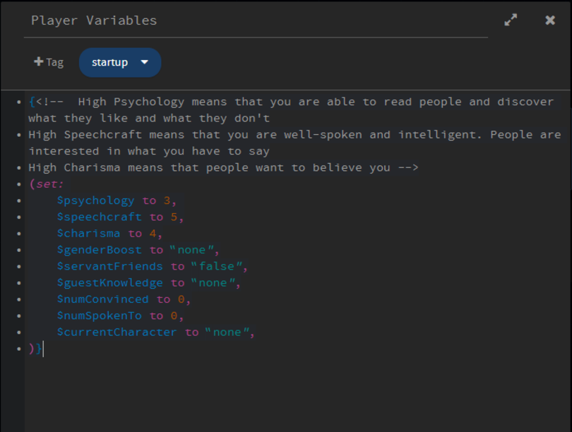 Player Variables in Twine