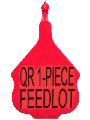 Perma-Flex Quick Release 1-Piece Feedlot Ear Tag -  Blank Tag