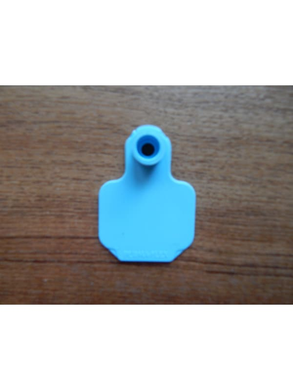Bag of small blue tags with stud