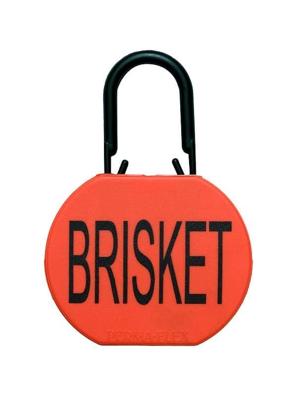 Perma-Flex Brisket Tag w/ Locking Loop - Blank Example