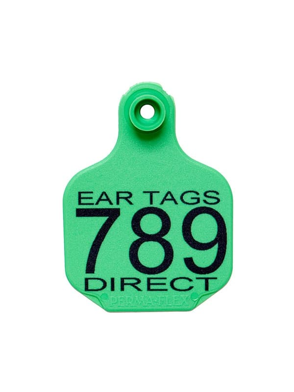 Perma-Flex Medium Cattle Ear Tag - Custom Example