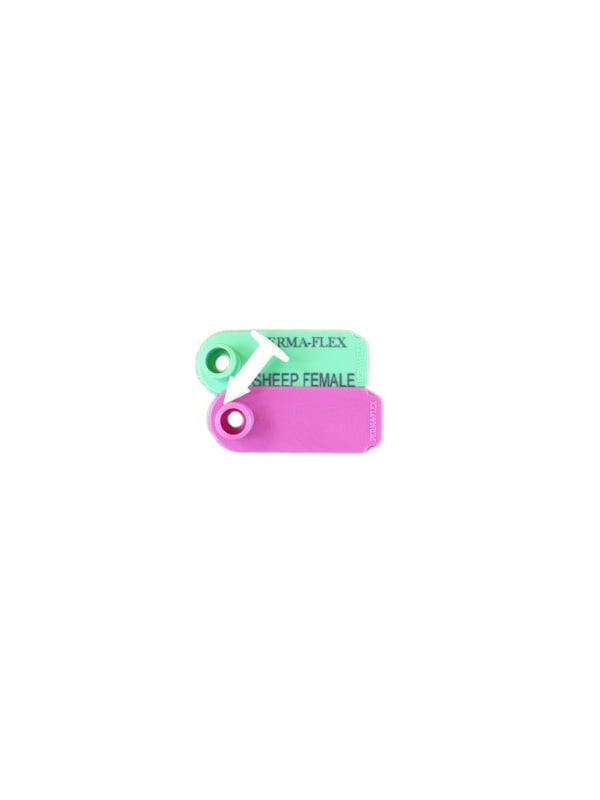 Perma-Flex Sheep Tag Female w/ stud - Blank