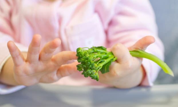 Met vegetarische maaltijden meer variatie brengen in baby's menu
