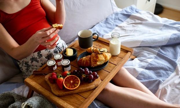Het ontbijt tijdens de zwangerschap