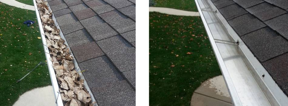 Service name: Gutter cleaning in London to prevent roof leaks and water damage
