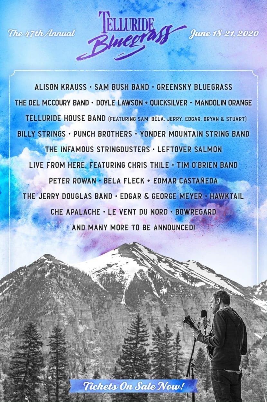 Telluride Bluegrass Festival - Telluride, CO