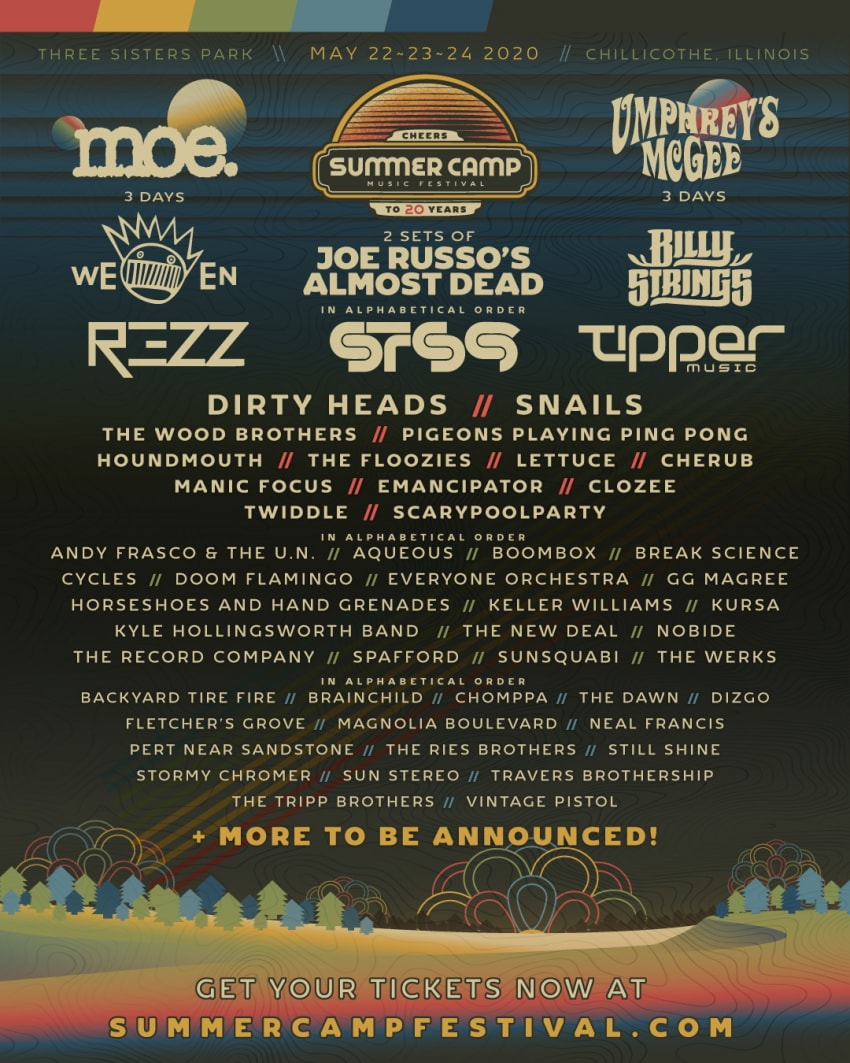 Summer Camp Music Festival Lineup 2020