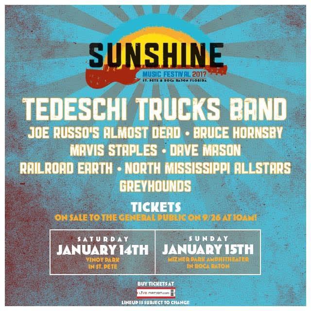 Sunshine Music Festival Announces 2017 Lineup