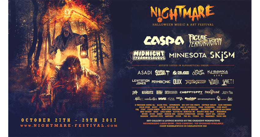 nightmare festival 2017 lineup  oct 27  28 2017
