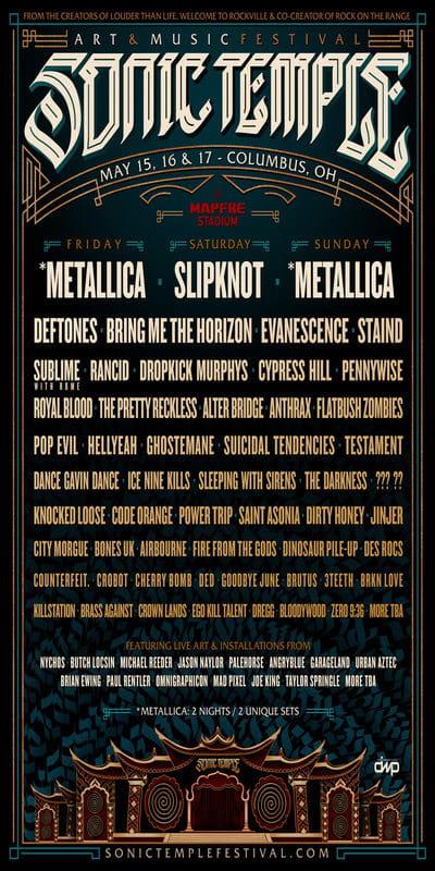 sonic temple art   music festival announces 2020 lineup