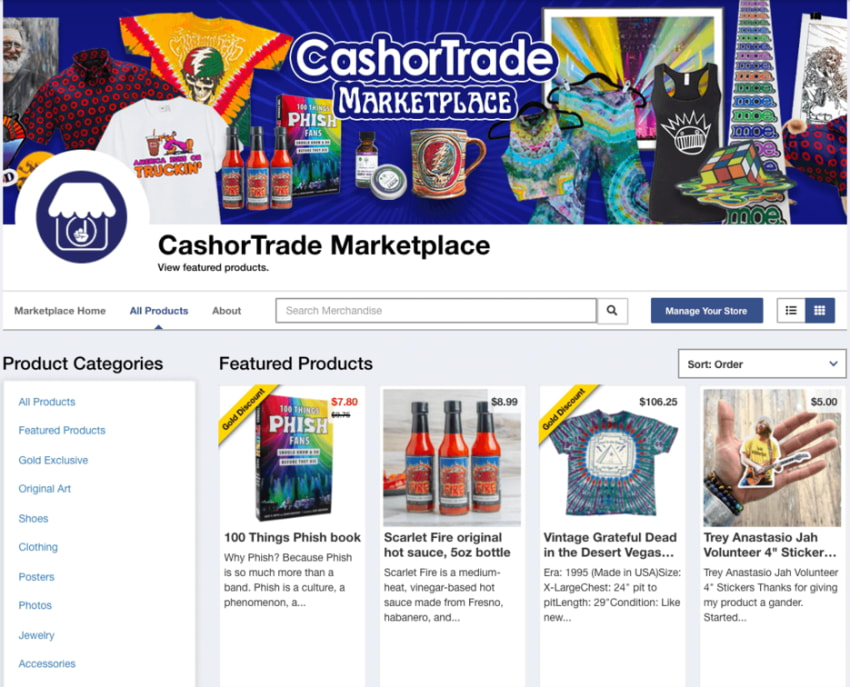 CashorTrade Launches Marketplace