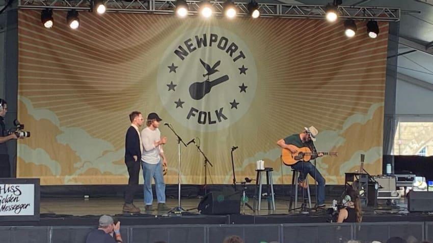 The Black Crowes' Chris & Rich Robinson Perform At Newport Folk Festival