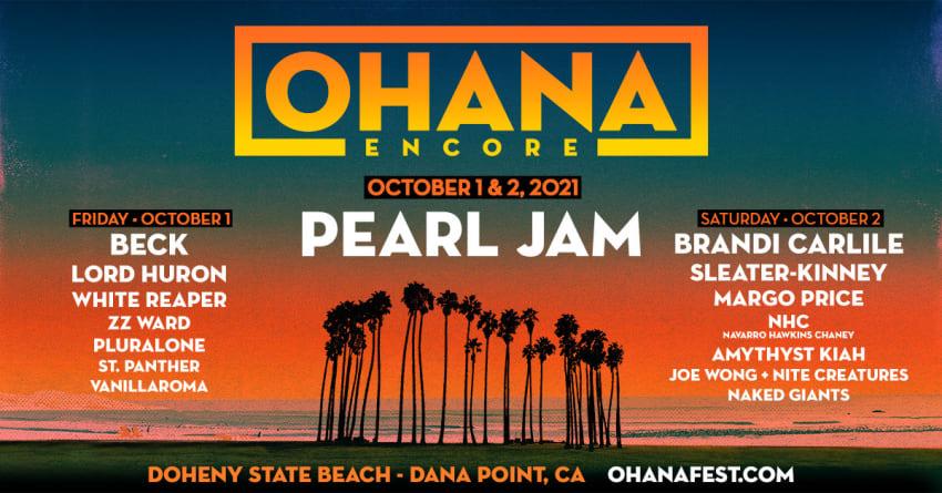 Ohana Encore Weekend 2021: Pearl Jam, Brandi Carlile, Beck & More