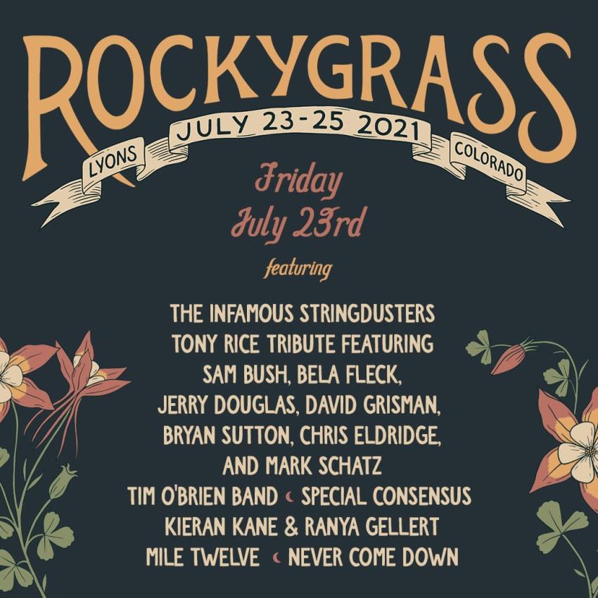 RockyGrass Festival: Daily Mandolin Livestream Lineups