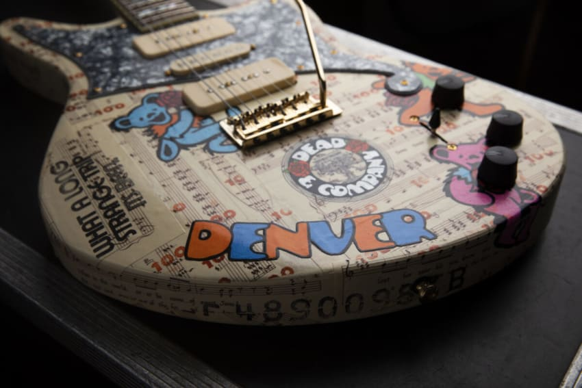 Mister E Designs Custom Dead & Company D'Angelico Guitars To Benefit HeadCount, Reverb & Dead Family Charities