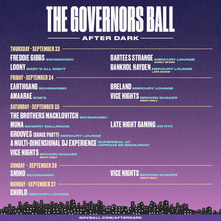 Governors Ball Music Festival Expands 2021 Lineup & Announces COVID-19 Protocols