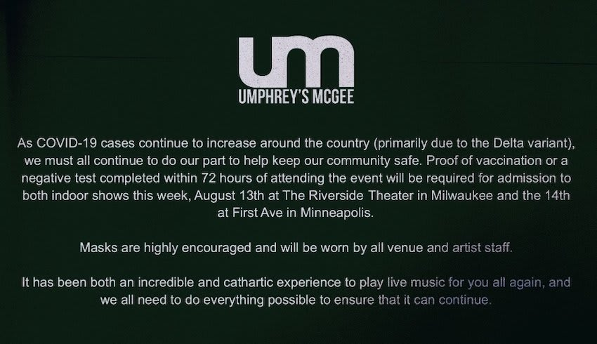 Umphrey's McGee Announces COVID-19 Protocols For Midwest Concerts