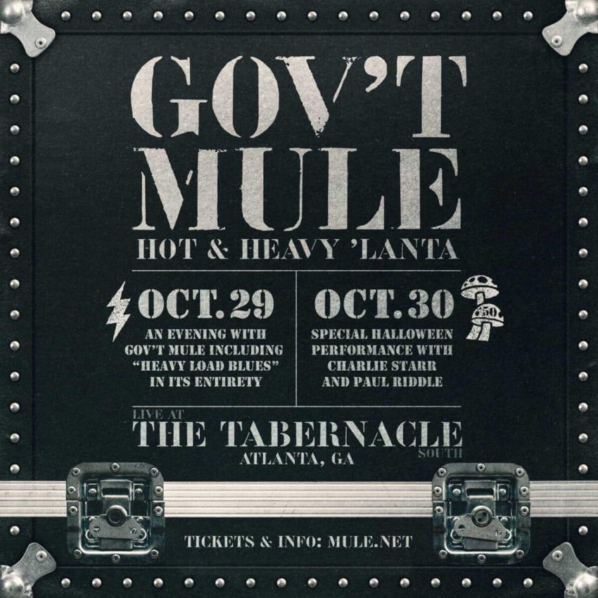Gov't Mule Confirms Mule-o-ween Run 2021 In Atlanta