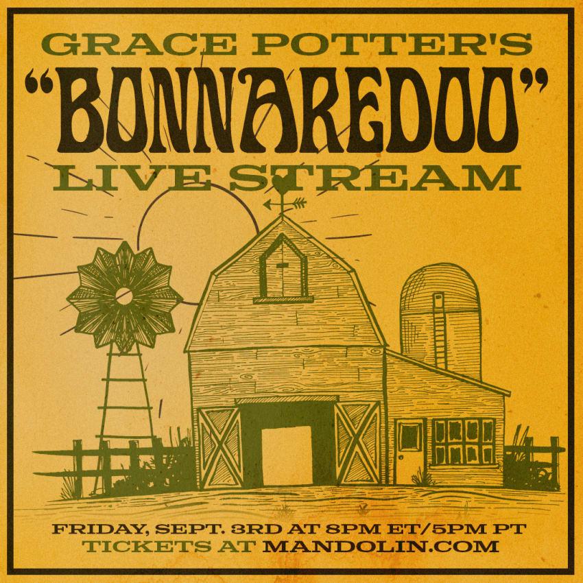 Upcoming Mandolin Livestreams: Grace Potter, Caamp & Béla Fleck