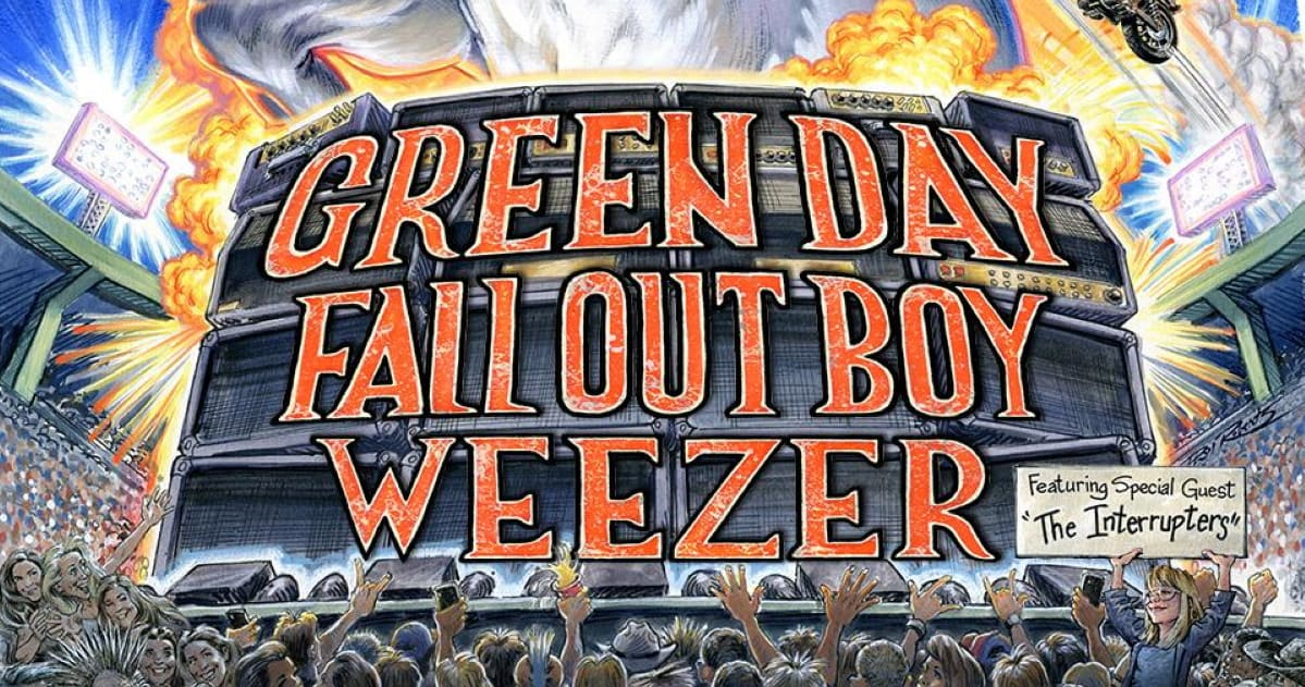 Green Day Tour 2020.Green Day Fall Out Boy Weezer Announce Summer Tour 2020