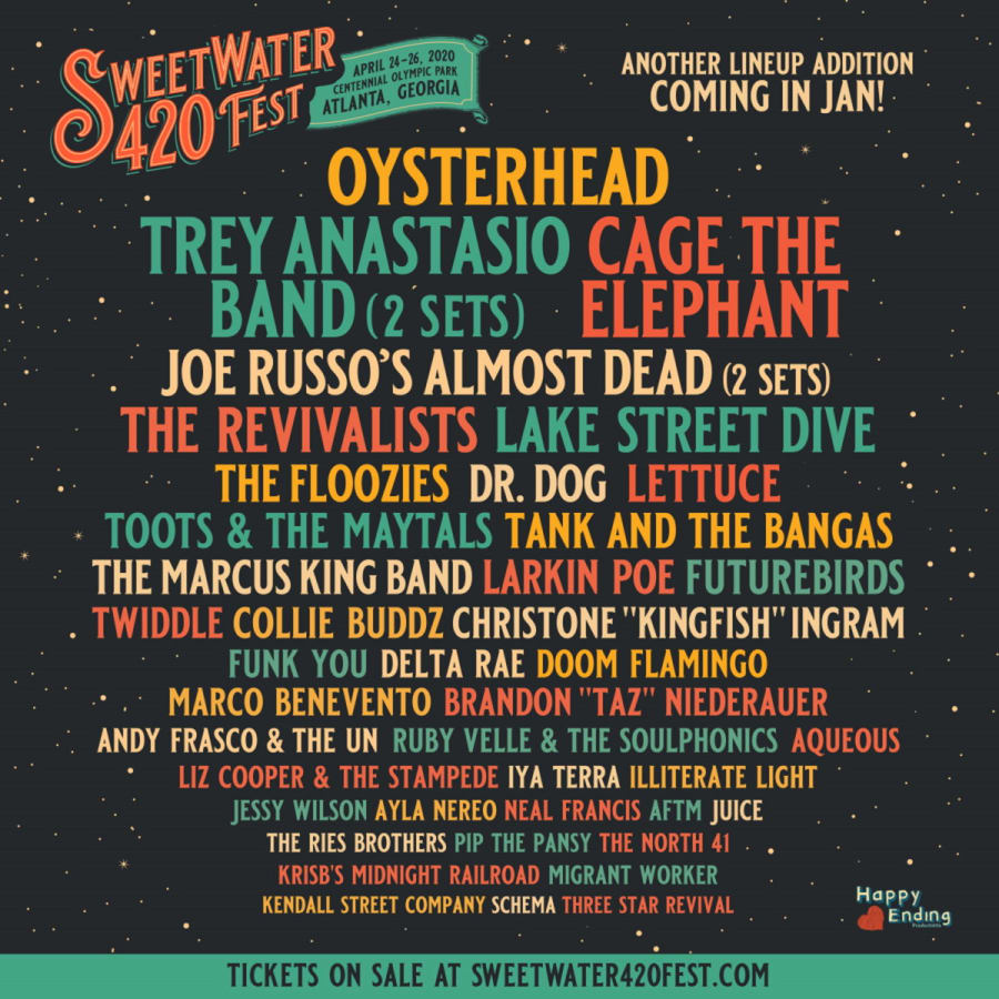 SweetWater 420 Fest 2020 Lineup Additions
