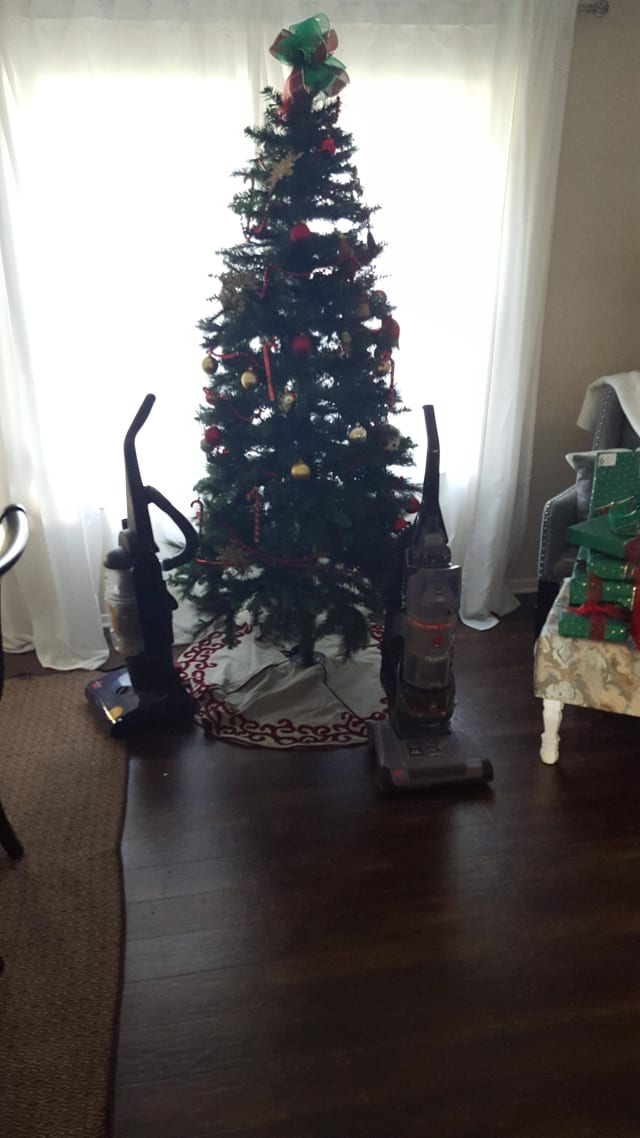 vacuum cleaner guards christmas tree
