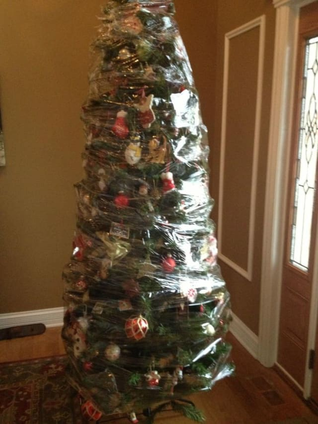 christmas tree in a wrap