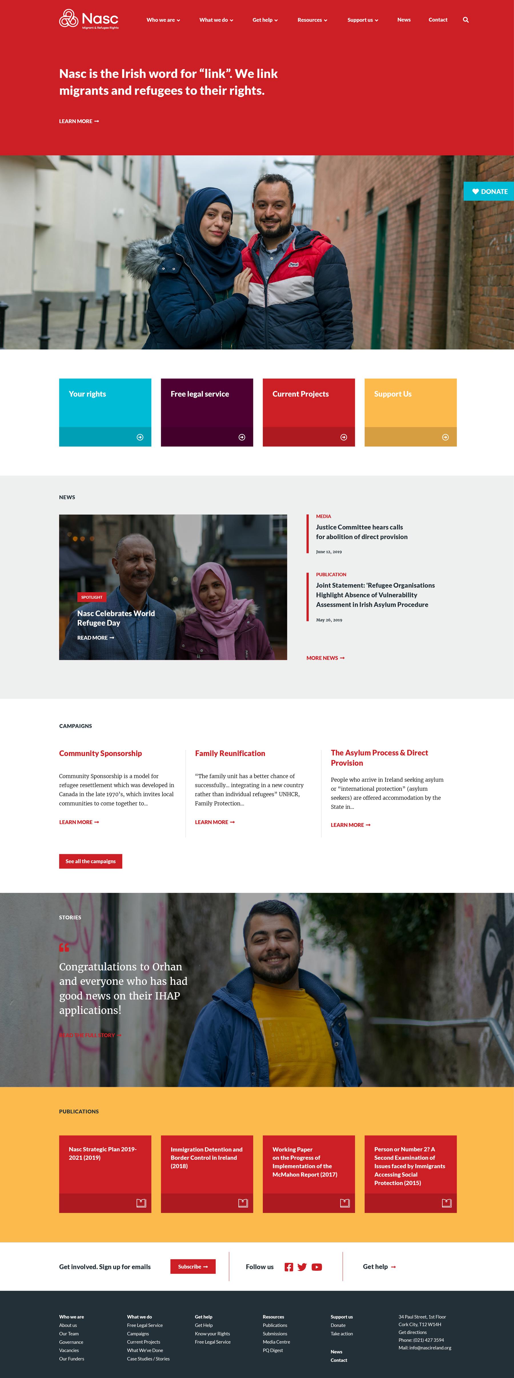 Nasc Ireland Website Development