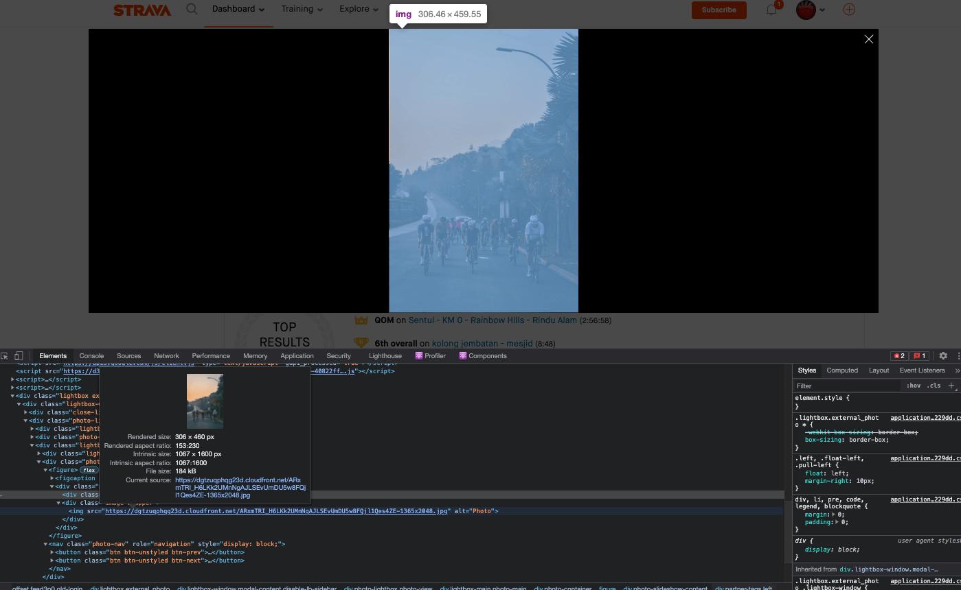 Cara Download Gambar dari Aktifitas Strava