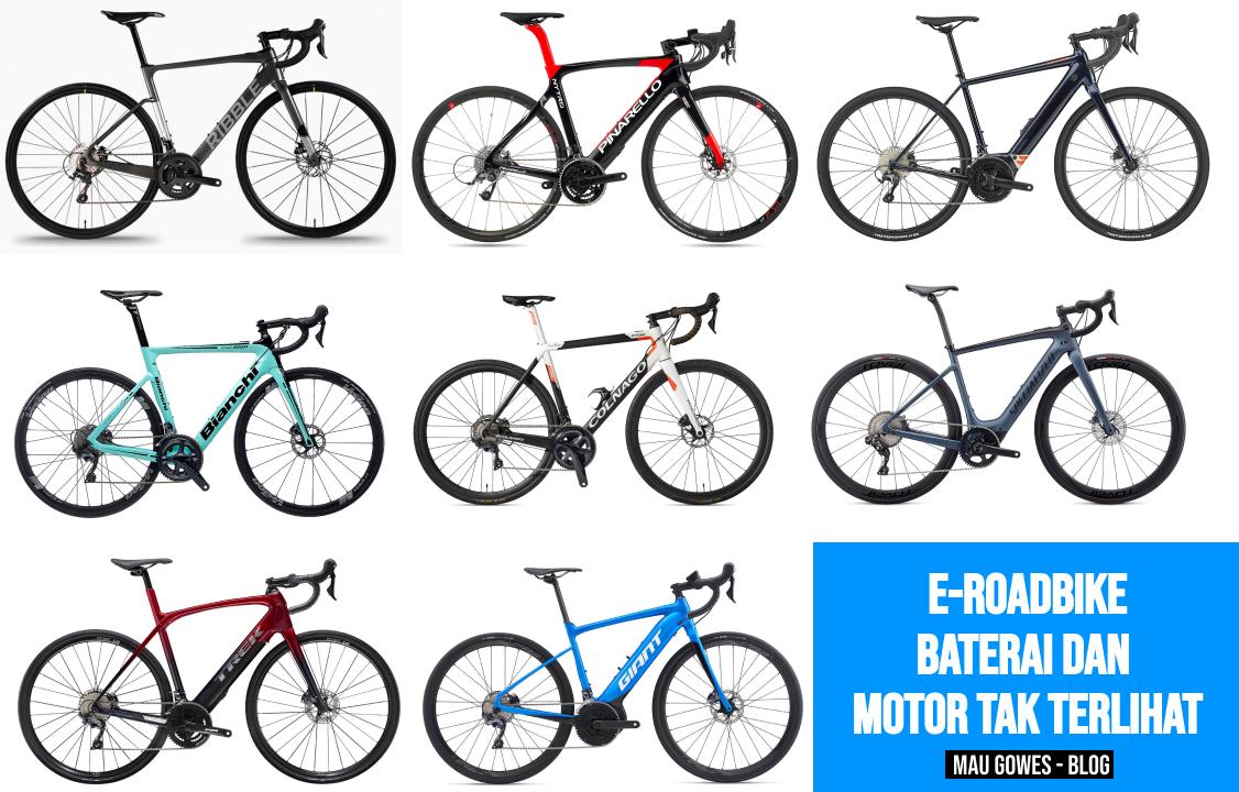 e-bike Roadbike Dengan Motor dan Baterai yang Tak Terlihat