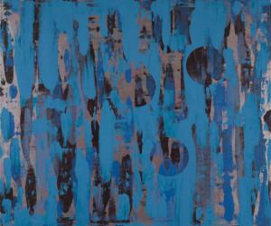 "Unusaul Landscape #4, oil on canvas, 60"" x 72"", 2016 (Collection of Minnesota Vikings at US Bank Stadium.)"