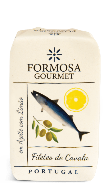 mackerel fillets in olive oil with lemon