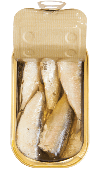 sardines in spicy olive oil open