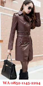 Jaket Kulit Wanita Warna Coklat Muda