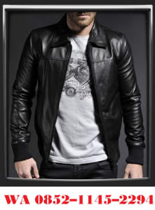 Model Jaket Kulit Pria Berkerah