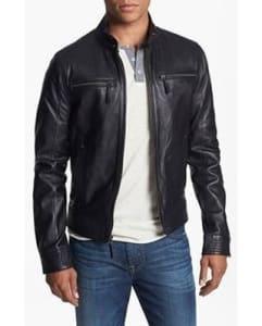 jaket kulit pria hitam