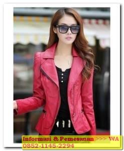 jaket kulit wanita korean style