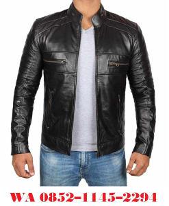 jaket kulit pria biker