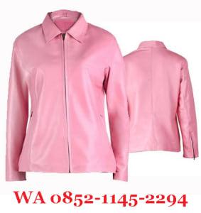 Jaket Kulit Wanita Warna Pink