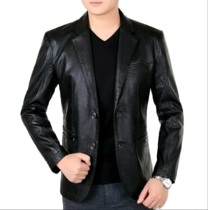 Blazer jaket kulit