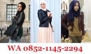 Style Jaket Kulit Wanita Hijab