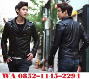 jaket kulit pria Korean Style