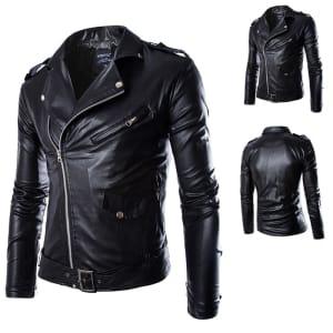 jaket kulit pria hitam dan harganya