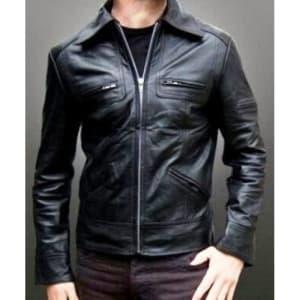 jaket kulit pria slim fit
