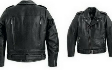 Model jaket kulit Double rider motorcycle