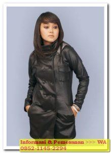 model jaket kulit perempuan terbaru